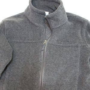 COLUMBIA Mens Fleece Full Zip Grey Sweatshirt